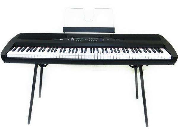 KORG コルグ 電子ピアノ 88鍵 ペダル付 SP-280 BK ブラック