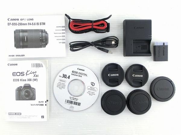 Canon キヤノン 一眼レフ EOS Kiss X8i ダブルズームキット デジタル カメラ EOSKISSX8I-WKIT (2)
