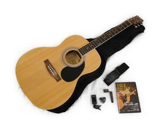 アコースティックギター 入門セット フォークタイプ 初心者 教則DVD付 Sepia Crue FG-10/N ナチュラル