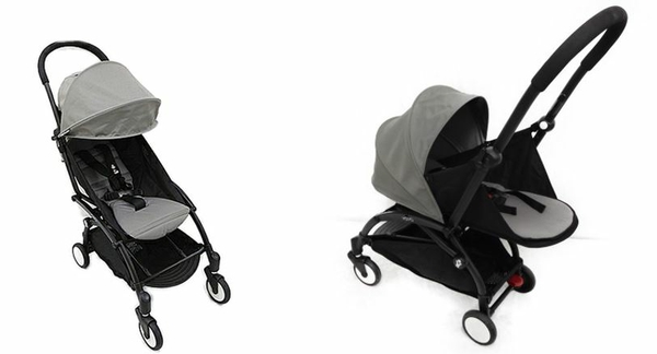 Baby Zen ベビーゼン ヨーヨープラス 0+ 6+ セット ベビーカー ブラックフレーム Yoyo 6+ グレー コンパクト