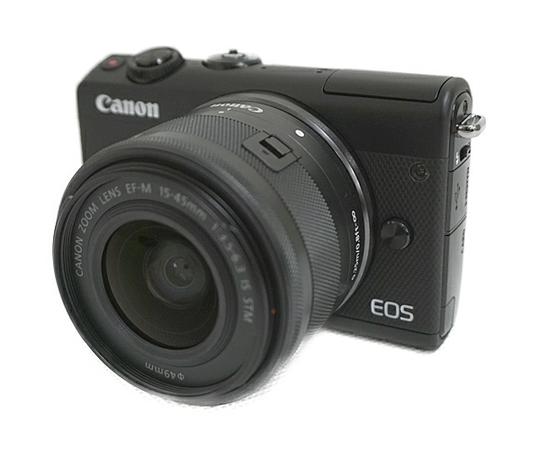 Canon キャノン ミラーレス 一眼 EOS M100 レンズキット ブラック カメラ デジタル EOSM100BK-1545ISSTMLK