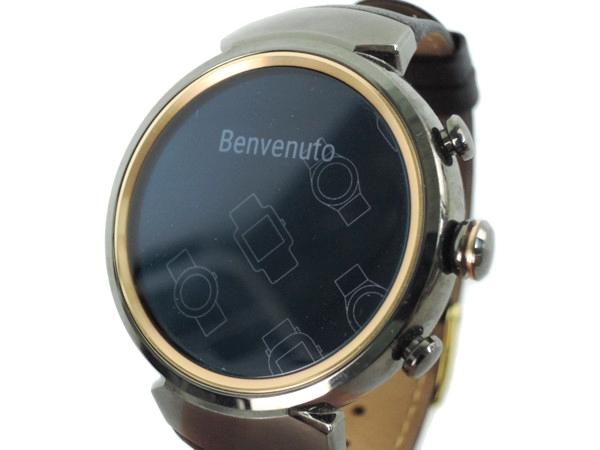 ASUS エイスース ZEN Watch 3 WI503Q-LBR04 スマートウォッチ ガンメタル/ダークブラウン