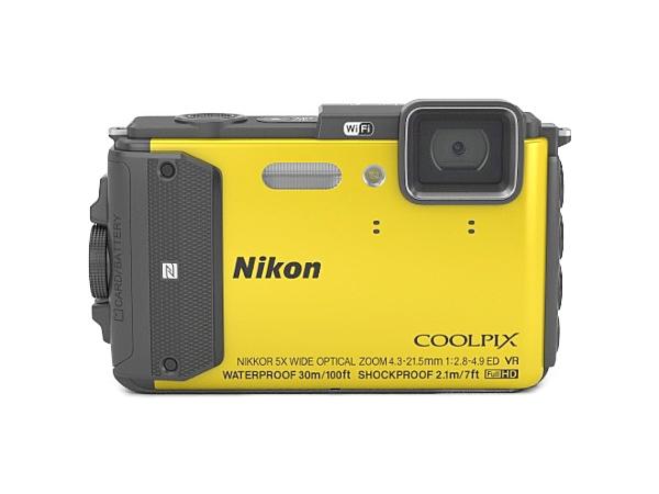 Nikon ニコン 防水カメラ COOLPIX AW130 イエロー 防水30m 防塵 デジタルカメラ