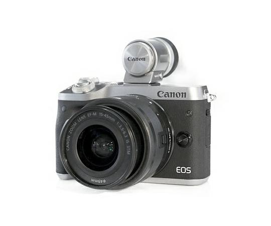 Canon キャノン ミーラレス一眼 EOS M6 レンズEVFキット シルバー デジタル カメラ EOSM6SL-1545ISEVFK