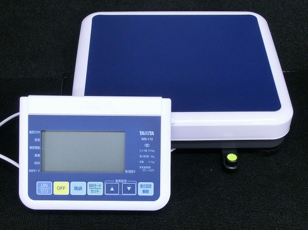 TANITA タニタ WB-110 業務用 デジタル 体重計 セパレートタイプ (ブルー)