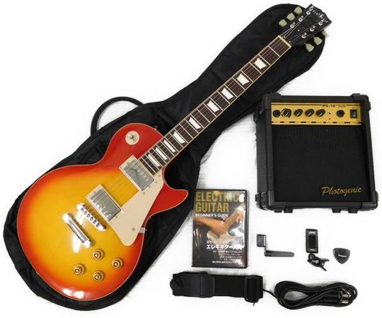 エレキギター アンプ 入門セット 教則DVD付 photogenic LP-260 CS レスポール チェリーサンバースト
