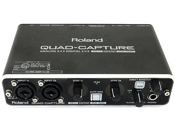 Roland ローランド QUAD-CAPTURE UA-55 オーディオインターフェース ブラック