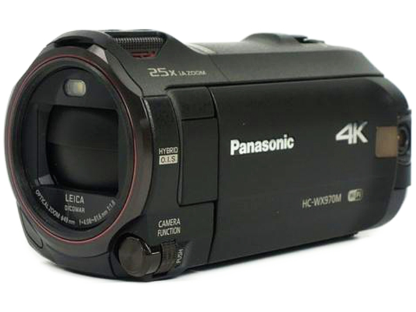 Panasonic パナソニック HC-WX970M 4K デジタル ビデオカメラ ブラック