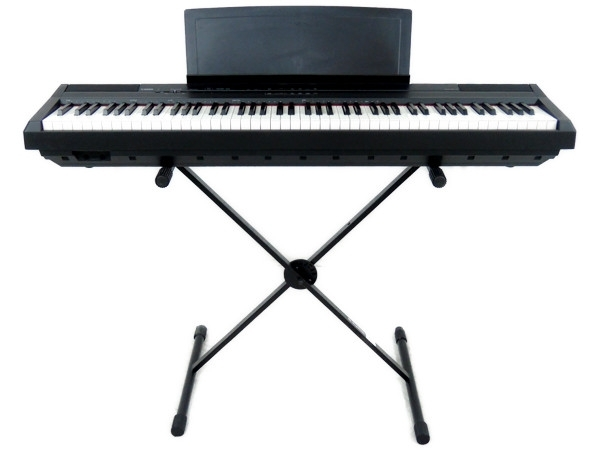 YAMAHA ヤマハ 電子ピアノ 88鍵 スタンド フットペダル 付 P-105 キーボード  ブラック 鍵盤 楽器
