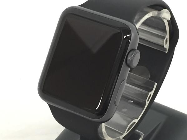 Apple Watch Series 3 GPSモデル 42mm MQL12J/A ブラック スポーツバンド スマートウォッチ