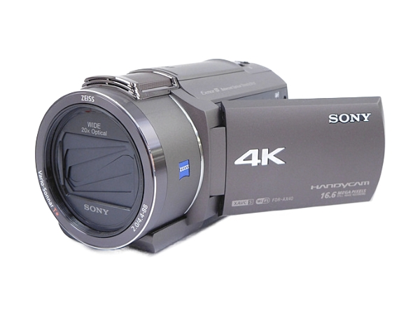 SONY ソニー ビデオカメラ ハンディカム FDR-AX40 ブロンズブラウン ハンディカム 4K 空間光学手ブレ補正 光学20倍ズーム