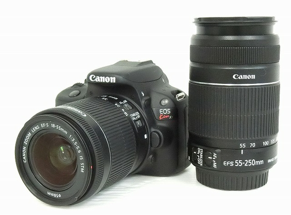Canon キヤノン 一眼レフ EOS Kiss X7 ダブルズームキット カメラ デジタル ブラック KISSX7-WKIT