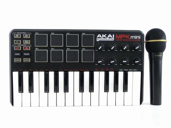 AKAI mpk mini キーボード コントローラ 楽器 TELEX COMMUNICATIONS N/D767A ハンドマイク
