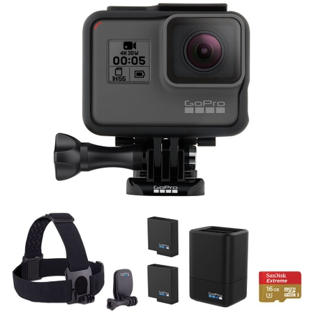 GoPro HERO5 Black ヘッドストラップ microSD 予備バッテリー付 CHDCB-501 CHDCB501 4Kムービー ウェアラブルカメラ ゴープロ