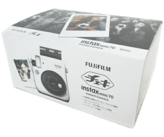 FUJIFILM 富士フィルム チェキ instax mini 70 ホワイト INS MINI 70 WHITE