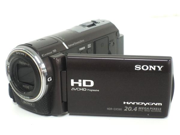 SONY ソニー Handycam HDR-CX590V デジタル ビデオカメラ HDD ボルドーブラウン