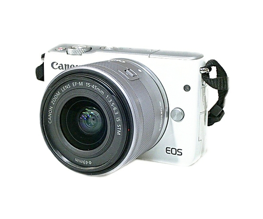 Canon キヤノン ミラーレス一眼 EOS M10 レンズキット ホワイト カメラ 結婚式 旅行 EOSM10WH-1545ISSTMLK