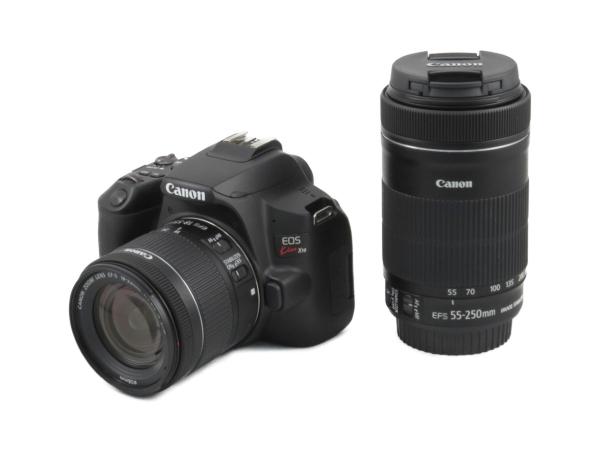 Canon キャノン 一眼レフ EOS Kiss X10 ダブルズームキット ブラック カメラ 2410万画素 4K動画 Wi-Fi