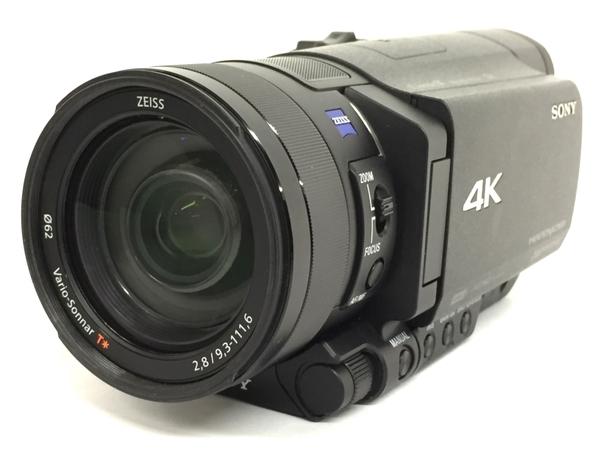 SONY ソニー ビデオカメラ ハンディカム FDR-AX100 ブラック 4K カメラ