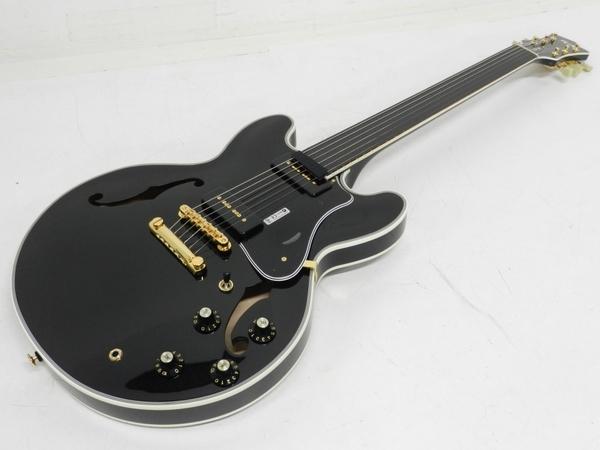 FUJIGEN MSA-SP-C BK Masterfield セミアコ ギター ケース付き