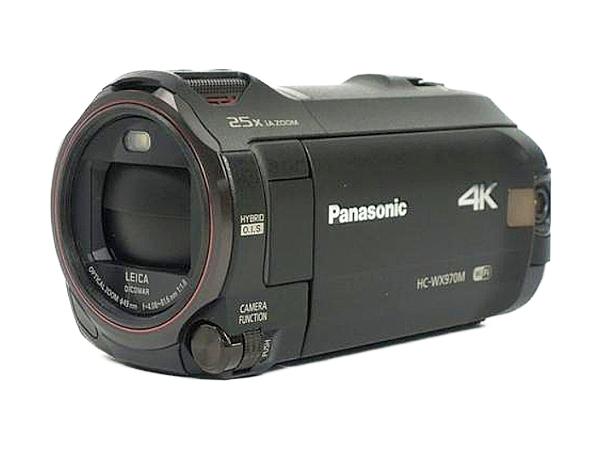 Panasonic パナソニック ビデオカメラ HC-WX970M 4K ワイプ撮り 内蔵64GB 軽量 デジタル カメラ ブラック