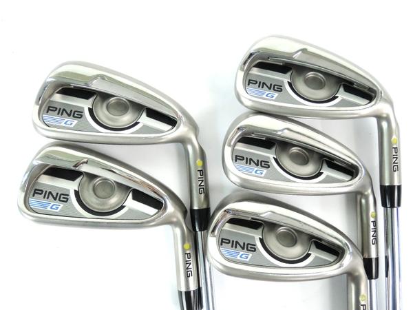 PING Gシリーズ ゴルフ アイアン 5本 セット 6/7/8/9/w シャフト TOUR105 N.S.PRO MODUS3 ゴルフ クラブ
