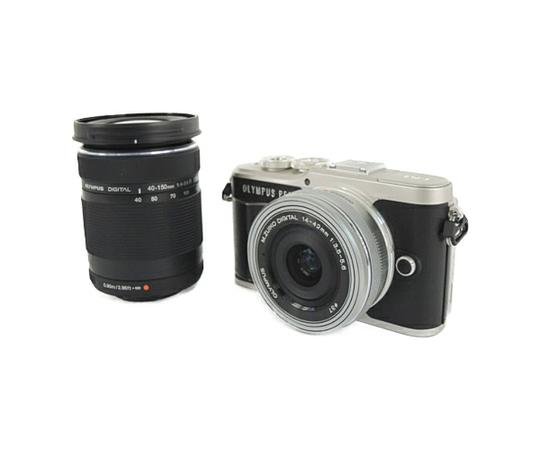OLYMPUS オリンパス ミラーレス 一眼 PEN E-PL9 EZ ダブルズームキット ブラック デジタル カメラ