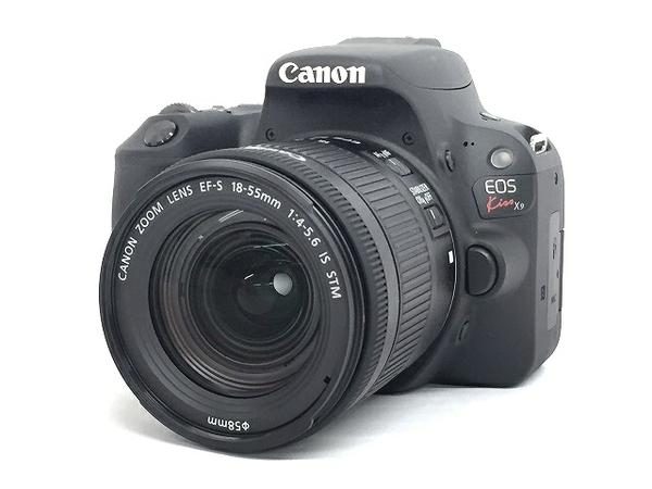 Canon キャノン 一眼 レフ EOS Kiss X9 レンズキット EF-S18-55 IS STM ブラック カメラ デジタル KISSX9BK1855F4ISSTML