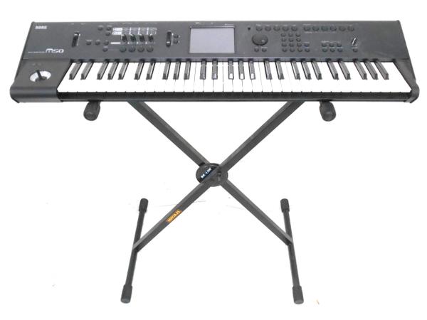 KORG コルグ M50-61 シンセサイザー Music Workstation ペダル スタンド 付