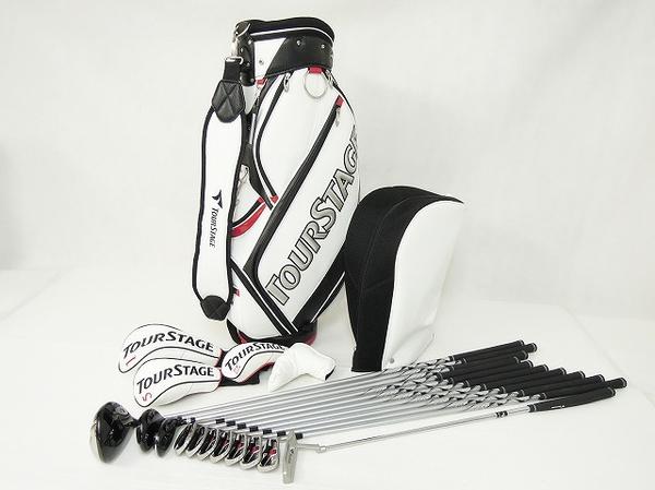 BRIDGESTONE ブリヂストン TOUR STAGE V002 ゴルフクラブ 11本 フルセット キャディバッグ 付
