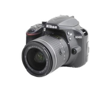 Nikon ニコン 一眼レフ D3400 AF-P 18-55mm VR レンズキット ブラック カメラ デジタル Bluetooth