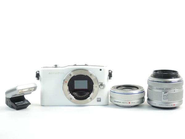 OLYMPUS オリンパス PEN mini E-PM1 ツインレンズキット カメラ ミラーレス一眼 ホワイト