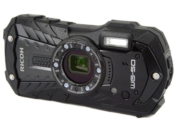 RICOH リコー 防水 デジタルカメラ WG-50 ブラック デジカメ コンデジ 1600万画素 水中カメラ