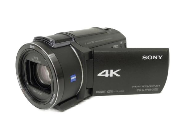 SONY ソニー ビデオカメラ ハンディカム FDR-AX40 ブラック 内蔵64GB ハンディカム 4K 空間光学手ブレ補正 光学20倍ズーム