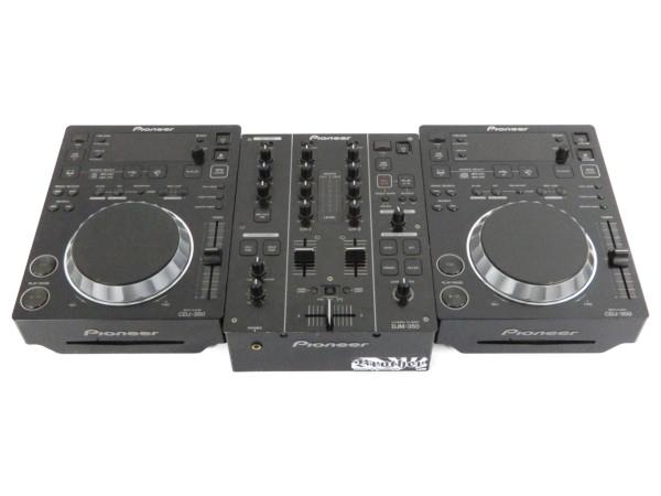 Pioneer パイオニア CDJ ミキサー CDJ-350+DJM-350 セット DJ機器 楽器