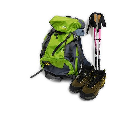登山セット 女性用 ザック・トレッキングブーツ・ポール 3点 23.5cm バッグパック 登山靴 杖 ステッキ