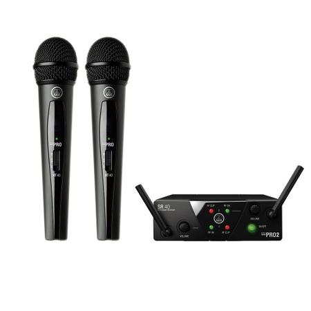 AKG 2チャンネルB帯ワイヤレスシステム WMS40 PRO MINI2 VOCAL SET DUAL