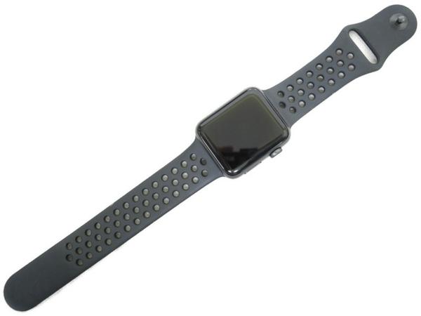 Apple Watch アップルウォッチ Nike+ ナイキ Series 3 GPS Cellular モデル 42mm MQMF2J/A ブラック スポーツバンド