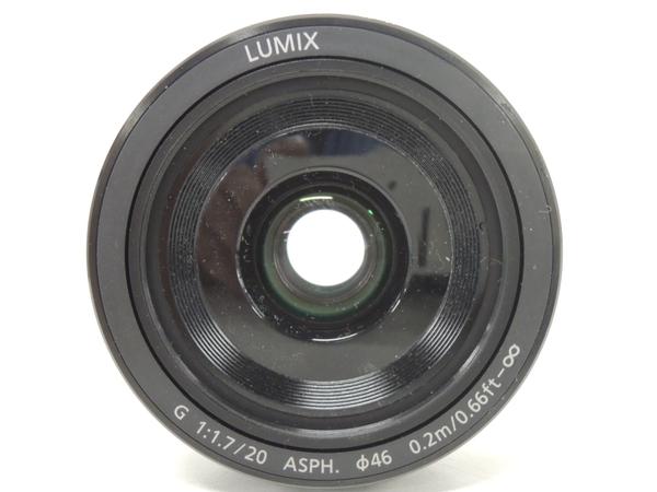 Panasonic パナソニック LUMIX G 20mm/F1.7 II ASPH. H-H020A-B カメラレンズ 単焦点 ブラック