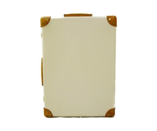 GLOBE TROTTER グローブトロッター サファリ 18インチ スーツケース トロリーケース アイボリー ホワイト×ナチュラル