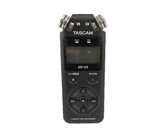 TASCAM タスカム  DR-05 VERSION2 リニア PCM ICレコーダー 24bit/96kHz対応 無指向性ステレオマイク ブラック