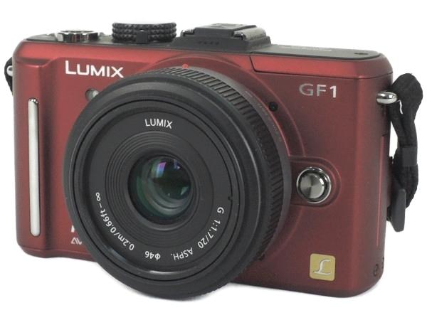 Panasonic パナソニック LUMIX GF1 DMC-GF1C パンケーキレンズキット アーバンレッド ミラーレス 一眼レフ カメラ