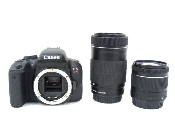 Canon キヤノン 一眼レフ EOS Kiss X9 ダブルズームキット ブラック デジタル カメラ EOSKISSX9BK-WKIT