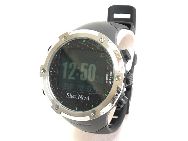 ShotNavi ショットナビ W1-FW SNW1FW-B ゴルフナビ 腕時計型 ブラック
