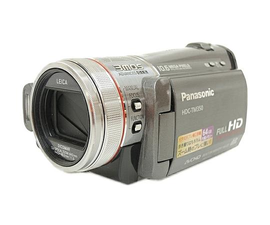 Panasonic パナソニック ビデオカメラ HDC-TM350 ハイビジョン メタリックグレー【予備バッテリー付】