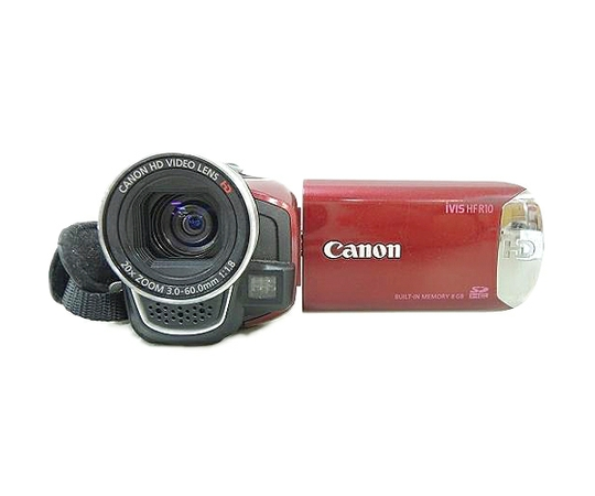 Canon キヤノン iVIS HF R10 IVISHFR10RD デジタルビデオカメラ レッド