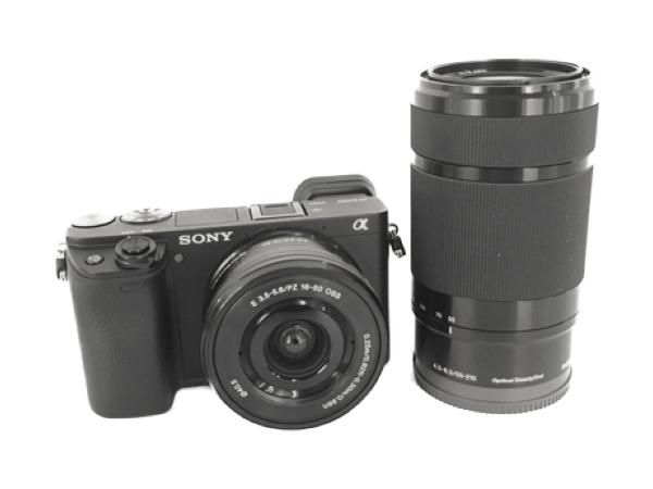 SONY ソニー ミラーレス一眼 α6400 ダブルズームレンズキット ブラック 4K 2420万画素 瞳AF 高速AF カメラ