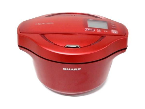 SHARP シャープ 水なし 自動調理鍋 2.4L ヘルシオホットクック KN-HW24C レッド