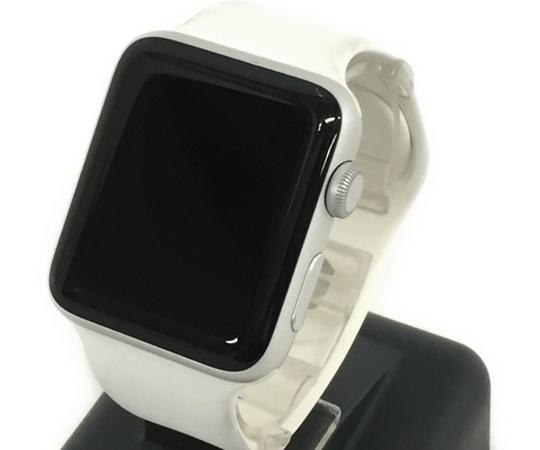 Apple Watch Series 2 42mm シルバーアルミニウムケース ホワイトスポーツバンド MNT22J/A スマートウォッチ